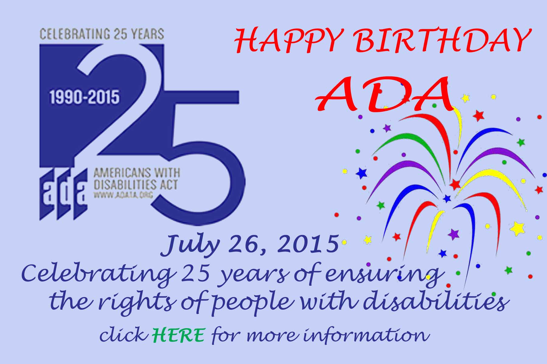 click here for information on ada birthday