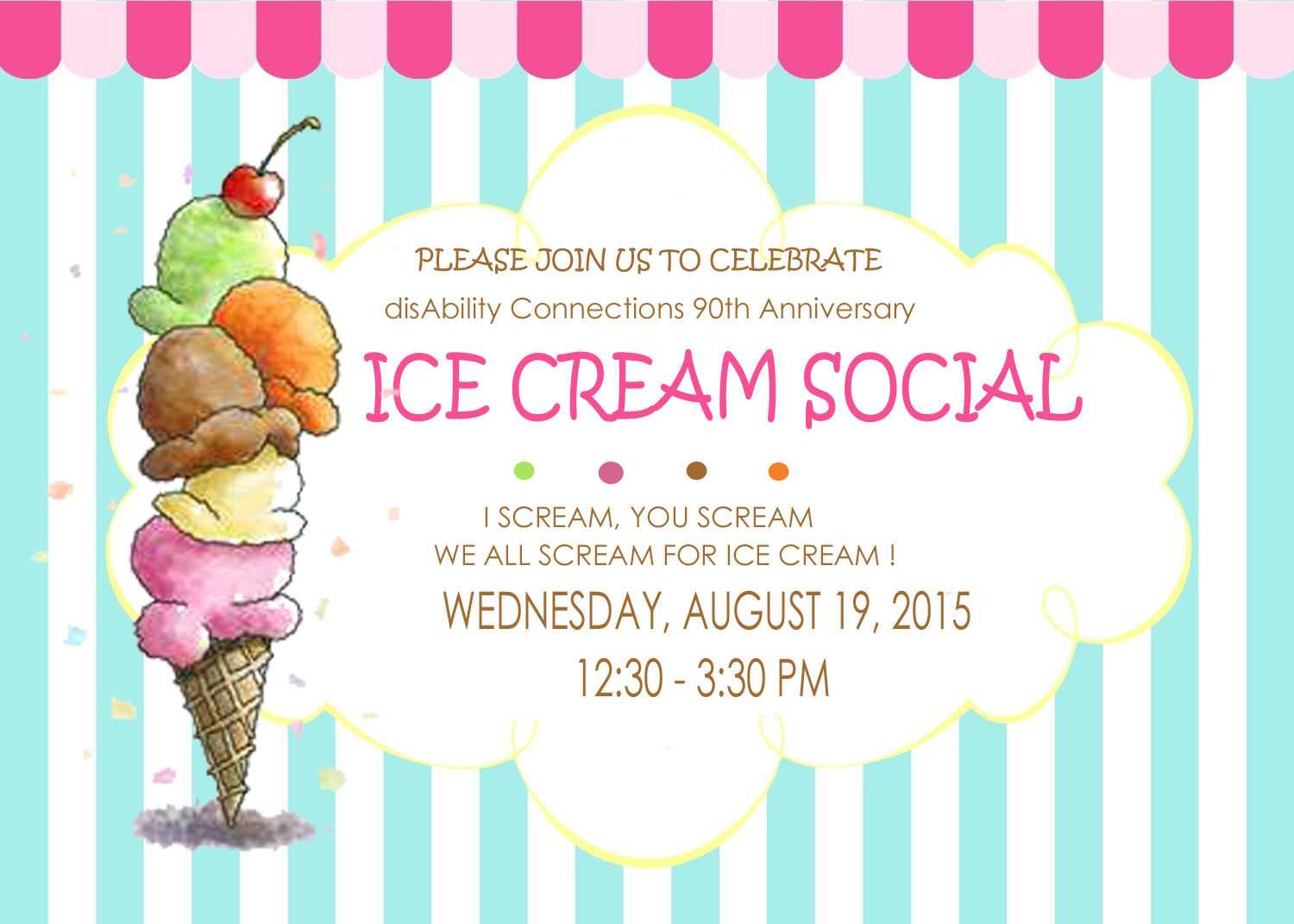 Disability Connections Inc Ice Cream Social 90th