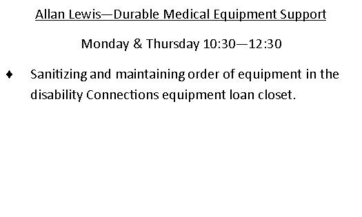 Allan Lewis -durable medical equipment